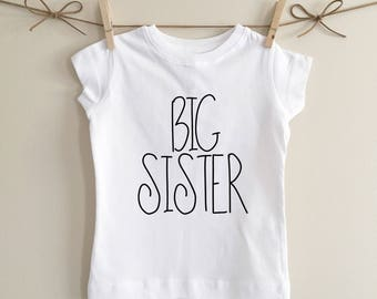 Big sister tshirt, big sis, girls tshirt, sister tshirt