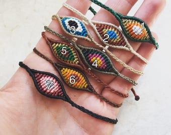 Macramee evil eye handmade wrist