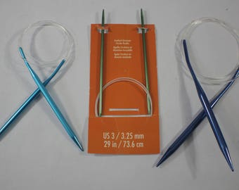 Set of 3 Circular Knitting Needles