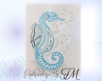 Embroidery - Seahorse / three sizes/Special price - valid until June 15