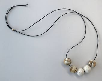 Mookalite and Ceramic Bead Necklace