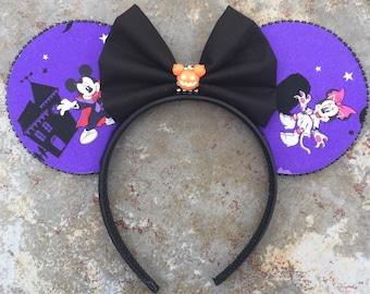 Halloween Mickey ears, Halloween Minnie ears,  Boo to You Mickey, halloween