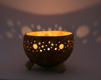 Coconut Shell Candle-Bowl