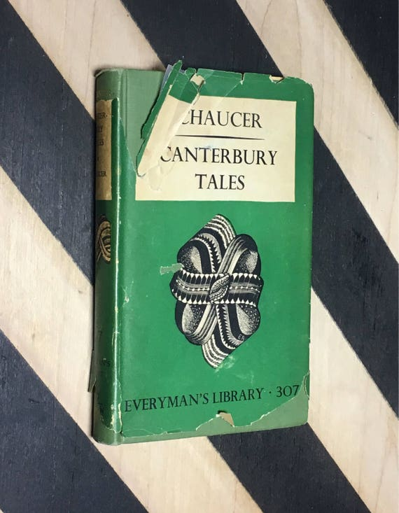 Canterbury Tales by Geoffrey Chaucer (1948) hardcover book