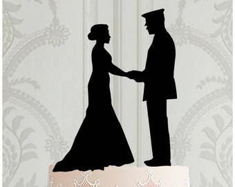 Military Wedding Cake Topper, Military Couple Cake topper, Wedding Cake Decor, Wedding Cake Topper, Wedding Decoration, Military Wedding