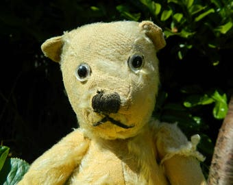 Vintage lovely Teddy bear/Antique teddy bear collector teddy/ Monkey Merrythought/teddy steiff?/old prop/vintage/growler teddy monkey 1930's