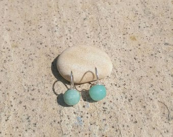 Nasturtium 965/semi precious/Amazonite stone Silver earrings
