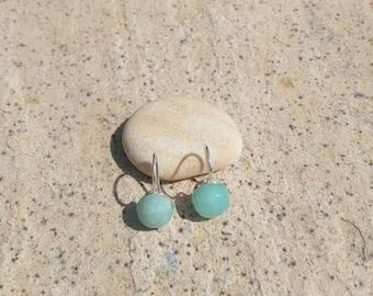 Boucles d'oreilles Capucine Argent 965/pierre semi précieuse/Amazonite