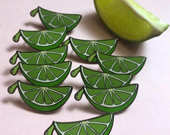 LIME WEDGE Enamel Pin