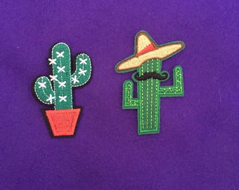 Cactus patch / cacti patch / cactus iron on patches / iron on patch