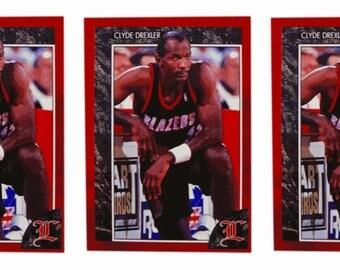 5 - 1992 Legends #50 Clyde Drexler Basketball Card Lot Portland Trail Blazers