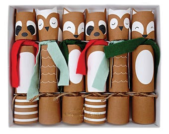 Christmas crackers etsy holiday crackerswoodland christmas crackers christmas decor party favors party crackers solutioingenieria Gallery
