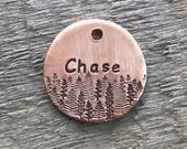 Dog Tags, Dog Tags for Dogs, Dog Tag, The Conifers Chase, Personalized Dog Tag, Pet Id Tag, Custom Dog Tag, Pet Supplies, Hand Stamped Dog