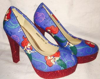 Disney Ariel / the little mermaid shoes / heels* * * uk sizes 3-8 * * *