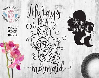 Mermaid SVG, Mermaid Cut File, Mermaid Printable, Nursery SVG, Nursery Printable, Girls SVG, Girls Printable, Mermaid t-shirt design,