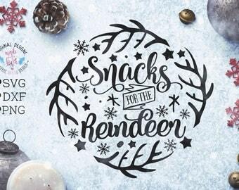 Reindeer svg, Reindeer snacks svg, Snacks for Reindeer Cut File in SVG, DXF, PNG, Reindeer Cut File, Christmas svg files, Christmas dxf