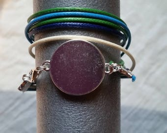Bracelet multicolored twice to be engraved