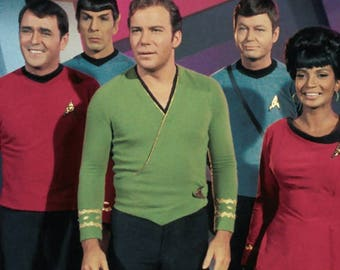 Star Trek TOS Kirk wrap tunic Men's Top Custom Costume Replica Braiding