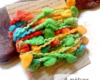 Length of 4 meters of multicolor fiber for embellishment