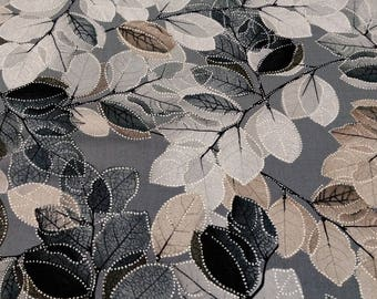 Essence of Pearl Sheer Leaves from Kanvas Studio and sold by the yard