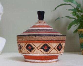 Fratelli Fanciullacci: Vintage Italian Tagine Shaped Moorish Style Ceramic Trinket Box