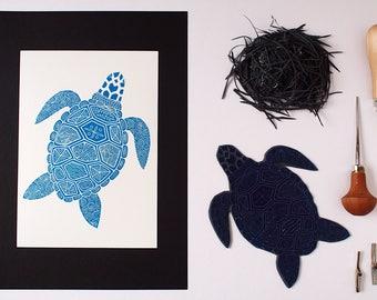 Curly Turtle - Original Handprint - Limited Edition (150)