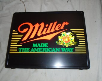 """Vintage Miller Beer Lighted sign from 1986  20""""X15""""X4"""""""