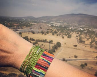 Multicolored Recycled Macrame Bracelet