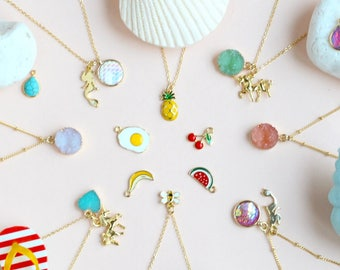 Summer Party necklace summer outdoors mermaid necklace unicorn necklace 4th july opal necklace moonstone necklace turquoise necklace emerald