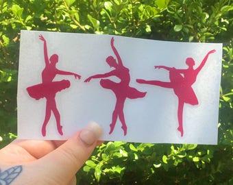 Ballerina decal sticker, Ballerina Dancer decal, Dance car sticker, Dance vinyl decal, Ballerina decal, Ballet decal, vinyl car sticker