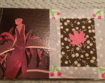 Cherry creative address book and leaves