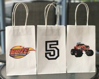 Homemade Blaze and the Monster Machines inspired candy bags