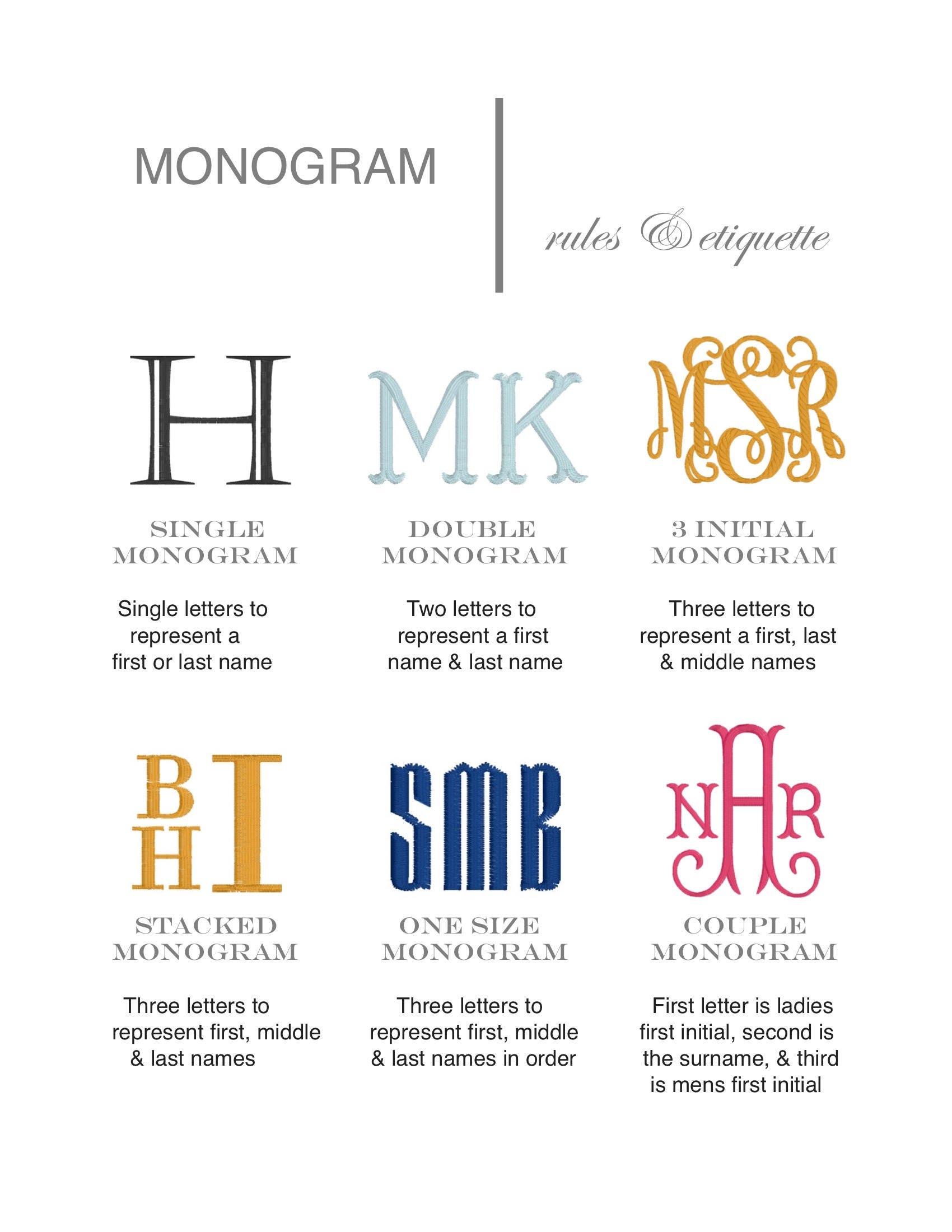 Wedding Monogrammed Handkerchief Personalized Bridal
