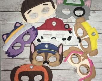 Paw Patrol Inspired Masks