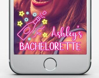 Custom Snapchat Filter, Bachelorette Geofilter, Girl's Night Snapchat Filter, Bachelorette Party Snapchat Geofilter, Champagne Geofilter