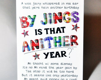 Birthday 'By Jings Is That Anither Year?' Card WWBI127