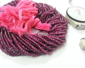 13 Inch Hyderabadi Garnet Faceted Rondelle Beads  - Pink Garnet Beads - Natural Garnet Beads - Garnet Faceted Beads - Garnet Rondelle Beads