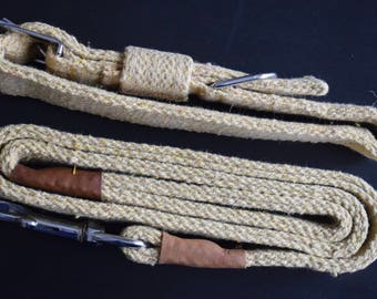 Khakhi Collar and Leash Set