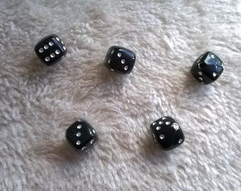 SET X 5 shapes from black beads