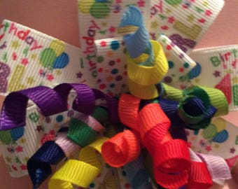 BIRTHDAY BOWS, SWEET treats Hair Bows for girls