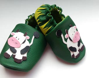 """Soft leather baby shoes """"love is in the Meadow"""""""