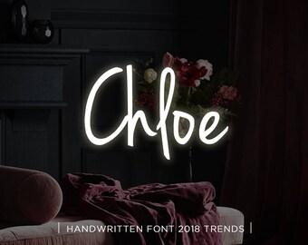 Chloe digital font download, Calligraphy font, Digital font, Wedding font, Handwritten font, Download digital font, Swirly font, Script
