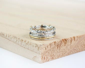 Ellery Spinning Ring, Sterling Silver Spinner Ring, Gold Anxiety Ring, Fidget Ring, Worry Ring, Meditation Ring, Fidget Jewelry,