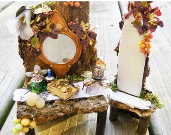 20% Off Storewide Fairy Garden Vanity, Fairy Chair, Miniature  Fairy Furniture, Fairy Accessories for Terrarium, Fairy House, and Miniature