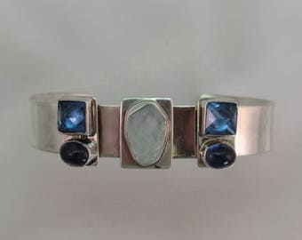 Lilly Barrack Sterling Silver Bracelet with Gem Stones