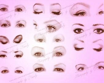 20 stunning female eyes photoshop brushes
