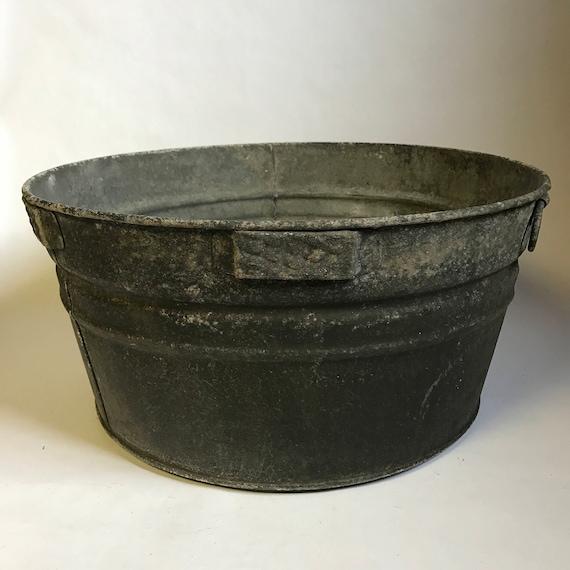 Extra Large Vintage Galvanized Tub