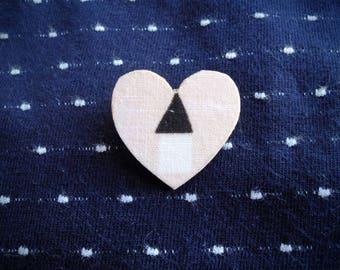 "Brooch ""little pink heart"""