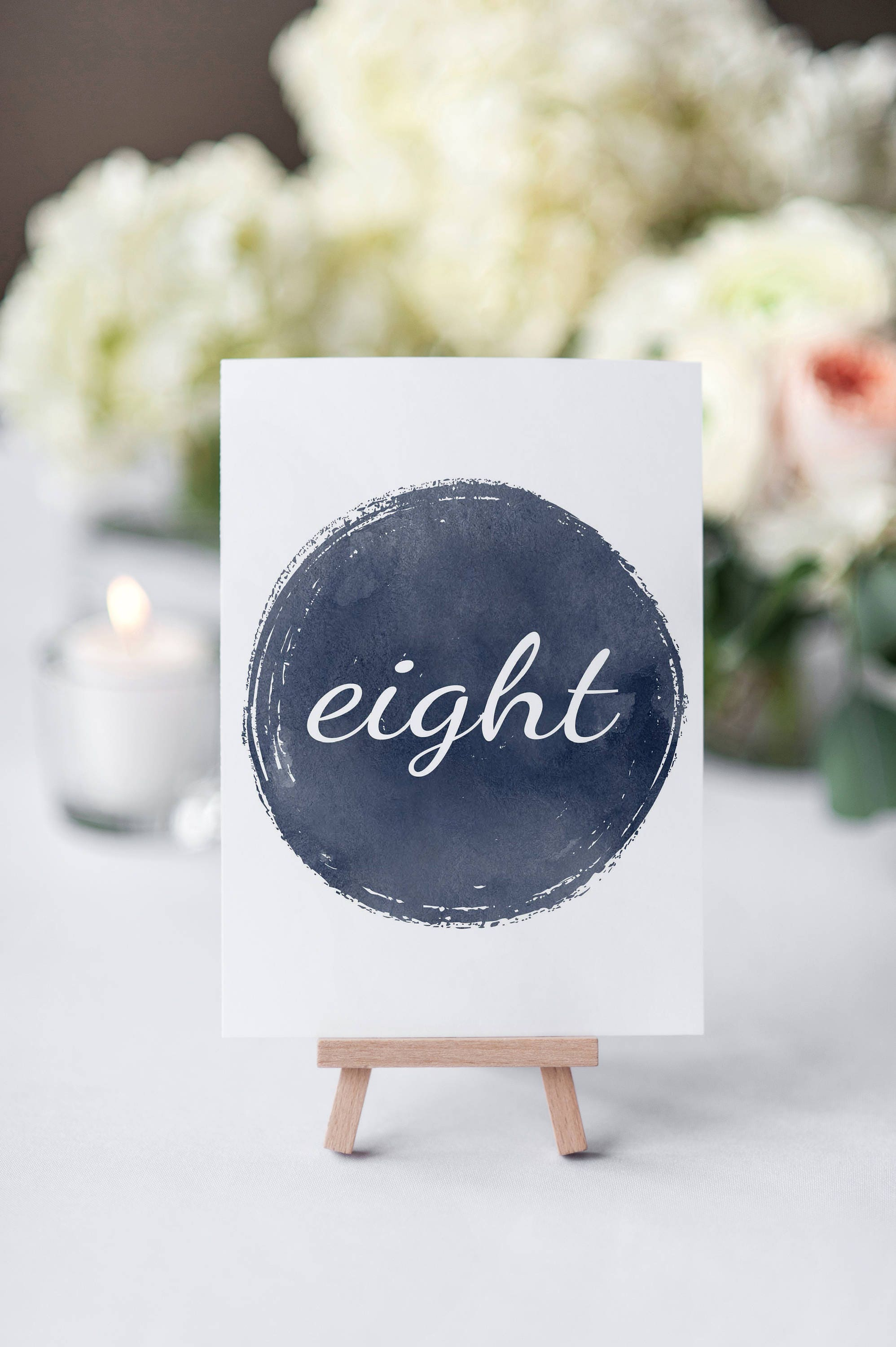 No. TN6 | Table Numbers | 1 - 20 | Navy | Wedding or Reception Decor ...