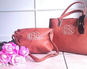 Personalized Purse, monogram tassel studded handbag